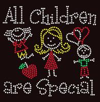 All Children are Special (4 colors) Kids School Rhinestone Transfer