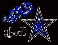 Wild About Star Cobalt Blue Rhinestone Transfer