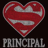 Super Principal School Rhinestone Transfer