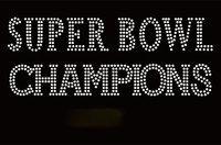 Super Bowl Champion Mascot Rhinestone Transfer Iron On