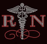 RN Registered Nurse Rhinestone Transfer