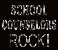School Counselors Rock! School Rhinestone Transfer