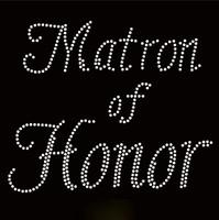 Matron Of Honor Rhinestone Transfer Iron on