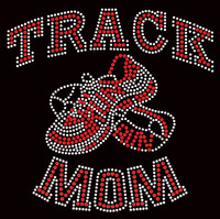 Track Mom Joggers Rhinestone Transfer