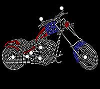 Motorcycle Biker Rhinestone Transfer