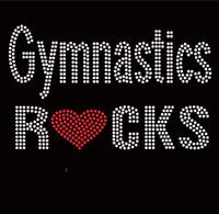 Gymnastics Rocks New Rhinestone Transfer Iron on