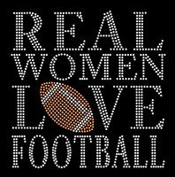 Real Women love Football New Rhinestone Transfer Iron on
