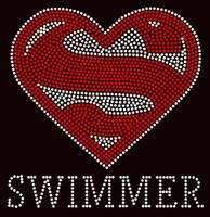 Super Swimmer Rhinestone Transfer Iron on