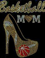 Basketball Mom Heel Stiletto (GOLDEN) Rhinestone Transfer