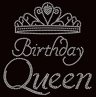 Birthday Queen Crown Rhinestone Transfer Iron on