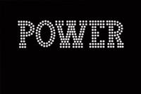 (Set of 3) POWER Text Rhinestone Transfer