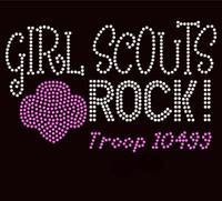 Girls Scouts Rock Troop 10499 - Custom Order Rhinestone transfer