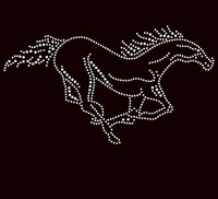 Horse Galloping Rhinestone Transfer Iron On