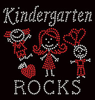 Kindergarten Rocks (2 colors) School Rhinestone Transfer