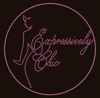 Expressively Chic (Light Pink) - Custom Order Rhinestone transfer