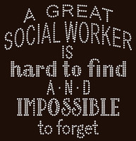 A Great Social Worker is hard to find School Rhinestone Transfer
