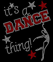 It's a Dance thing Red Rhinestone Transfer Iron On