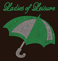 Umbrella Ladies of Leisure - Custom Order Rhinestone transfer