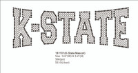K-STATES Mascot Rhinestone Transfer Iron On