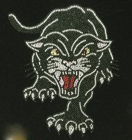Black Panther Roar Rhinestone Transfer Iron On
