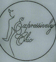 Expressively Chic (Black) - Custom Order Rhinestone transfer