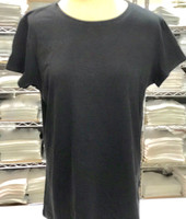 "Round Neck (Large: 16"" Chest - 27"" Length) T-Shirt (Black) Reserved Brand"