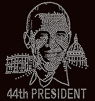 Obama - 44th President - Custom Order Rhinestone transfer