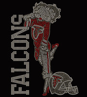 Atlanta Falcons Girl Betty Boob- Custom Rhinestone transfer