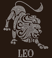 Leo Zodiac Horoscope Astrology sign Rhinestone Transfer