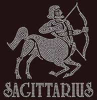 Sagittarius Zodiac Horoscope Astrology sign Rhinestone Transfer