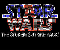 Staar Wars (The Students strikes back) School Rhinestone Transfer