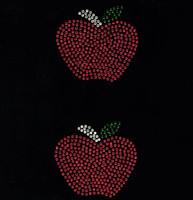 """(2 Qty) Apple 3"""" - School Rhinestone Transfer"""