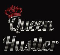 Queen Hustler crown Rhinestone Transfer