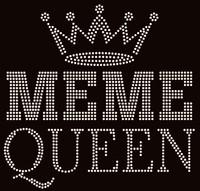 Meme Queen Rhinestone Transfer
