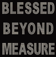 Blessed Beyond Measure Rhinestone Transfer