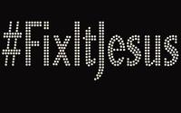 FixItJesus Custom Rhinestone Transfer