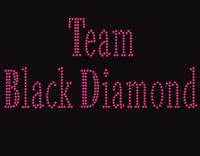 Team Black Diamond Rhinestone transfer