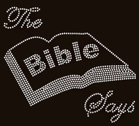 The Bible Says Rhinestone Transfer