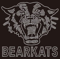 Bearkats with Bear Face (Clear) - Custom Rhinestone transfer