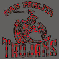 San Perlita Trojans with sword man - Custom Rhinestone transfer