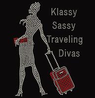 Hand Carry Lady - Klassy Sassy Traveling Diva custom order Rhinestone Transfer