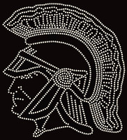 Trojans Soldier face - Custom Rhinestone transfer