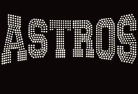 Astros Mascot Rhinestone Transfer Iron On