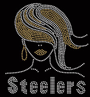 Golden Hair Steelers Girl Custom Rhinestone Transfer
