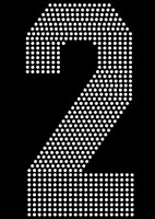 "8"" Sports number (2) Rhinestone Transfer"