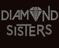 (Deposit) Diamond Sisters custom order Rhinestone Transfer