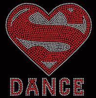 Super DANCE Rhinestone Transfer Iron on