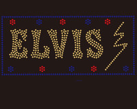 (22 Qty) ELVIS - Custom Rhinestone Transfer