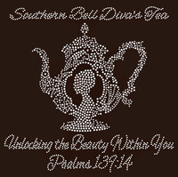 Southern Bell Diva's Tea Pot (Kettle)-Custom Rhinestone Transfer