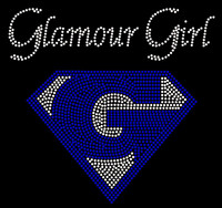 Glamour Girl with G - Custom Rhinestone Transfer